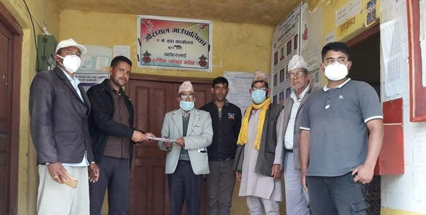 र्यापिड परिक्षण रोक्न माग गर्दै जोरायल गाउँपालिकालाई ज्ञापन पत्र