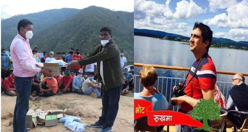 नर्वेबाट डोटीका क्वारेण्टाइनमा रहेका व्यक्तिलाई स्वास्थ्य सामाग्री सहयोग