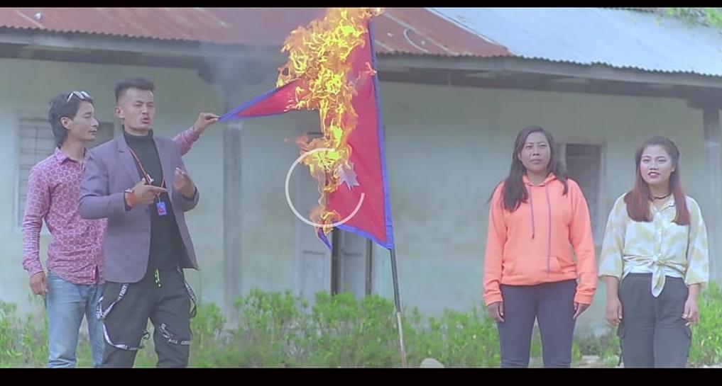 नेपाली झण्डा जलाइएको भिडियो भाइरल : संलग्न व्यक्तिहरुलाई कारबाही गर्न माग