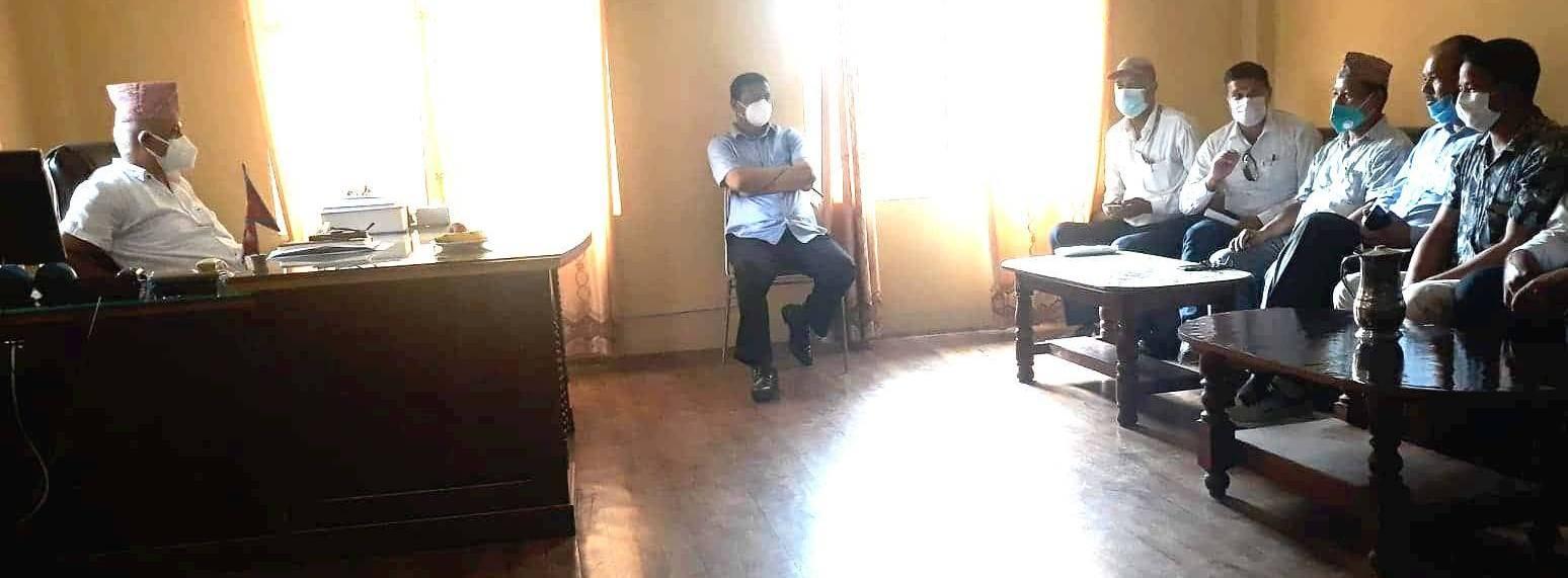 ऐन बिपरित कर्मचारी सरुवा गरेको भन्दै कर्मचारी युनियनद्धारा विरोध