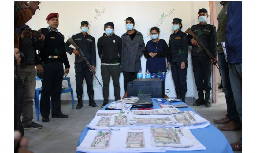 कञ्चनपुरमा भेटियो नक्कली नेपाली नोट बनाउने कारखाना : तीन जना पक्राउ