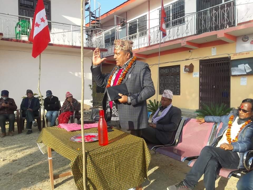 कम्युनिष्ट नेतृत्वको सरकारले जन अधिकार माथि हमला ग-यो : क्षेत्रीय सभापति जोशी