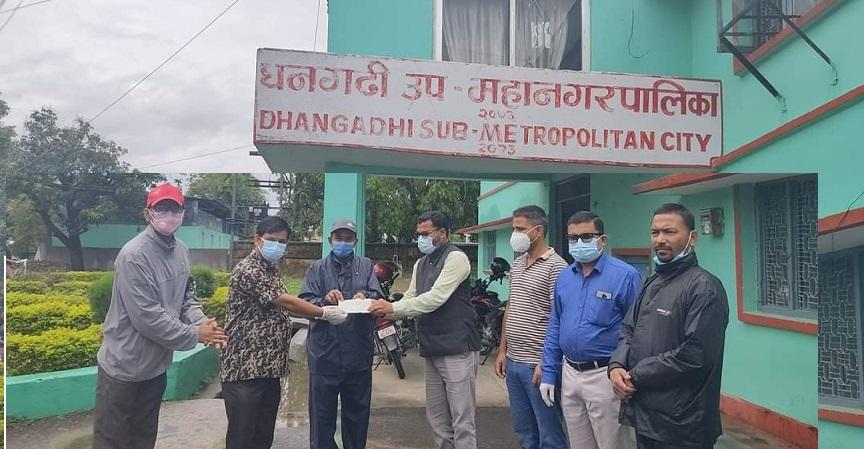 प्याब्सन धनगढीद्वारा अक्सिजन प्लान्ट जडानका लागि आर्थिक सहयोग